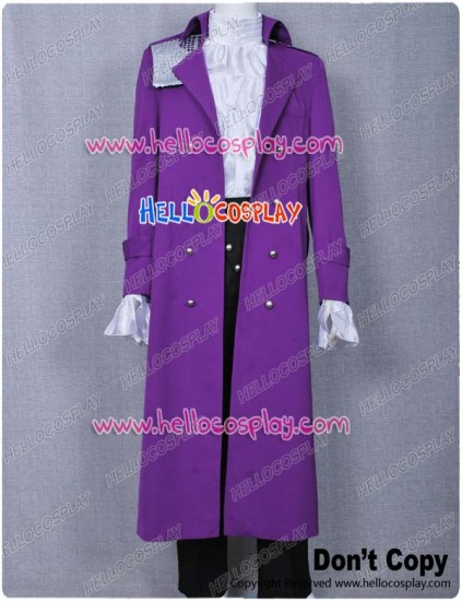 Purple Rain Costume Prince Rogers Nelson Coat Dark Purple