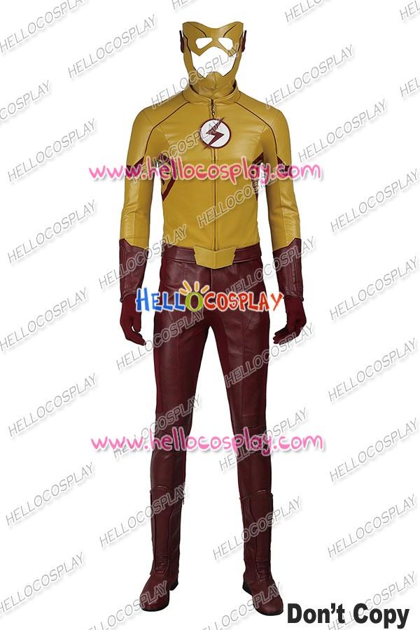 The Flash Season 3 Kid Flash Cosplay Costume ...  sc 1 st  Hello Cosplay & The Flash Season 3 Kid Flash Superhero Cosplay Costume Uniform