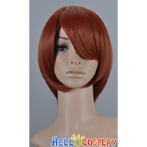Brown Red Cosplay Short Layer Wig