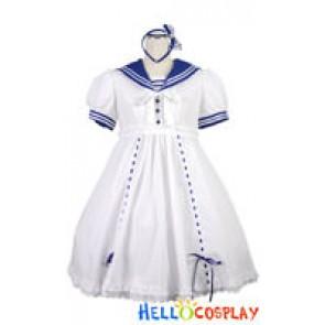 Gothic Lolita Costumes White Dress