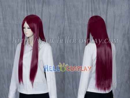 Purple Red Medium Cosplay Straight Wig
