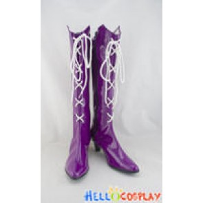 Sailor Moon Cosplay Shoes Sailor Saturn Boots Purple