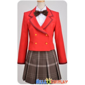 Fantasista Doll Cosplay Uzume Uno Girl Red Uniform Costume