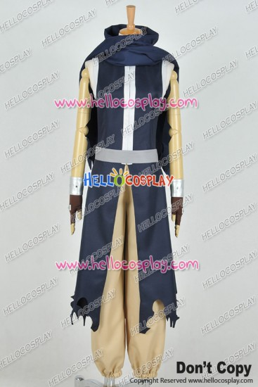 Fairy Tail Cosplay Kurogane Gajeel Redfox Costume Combat Uniform