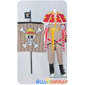 One Piece Cosplay Going Merry Red Shawl Flag Full Set Costume