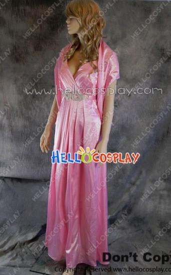 Party Cosplay Pink Long Ball Gown Formal Dress Costume