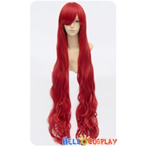 Wig 100cm Cosplay Long Curly Pure Red Universal