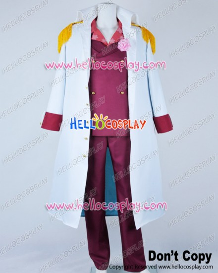 One Piece Cosplay Admiral Akainu Sakazuki Dark Red Uniform Costume