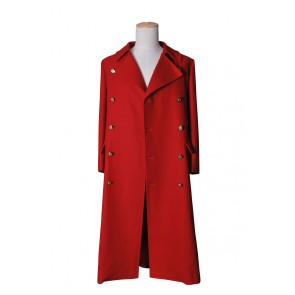 The Fourth Doctor Red Wool Trench Coat The 4th Dr Costume