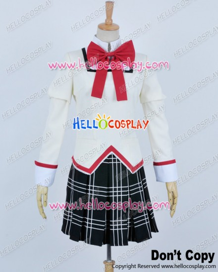 Puella Magi Madoka Magica Cosplay School Girl Uniform Costume