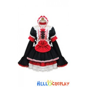 Angel Feather Cosplay Lolita Princess Maid Dress Costume