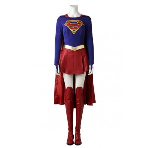 Superman Supergirl Kara Zor-El Cosplay Costume