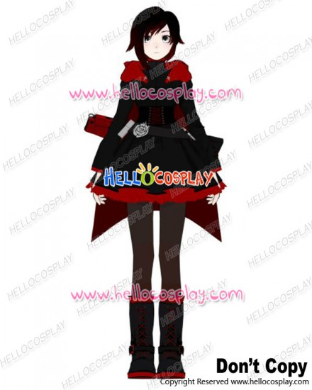 RWBY Cosplay Red Trailer Ruby Rose Uniform Costume