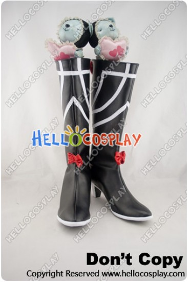 Phantasy Star Cosplay Shoes Black Boots