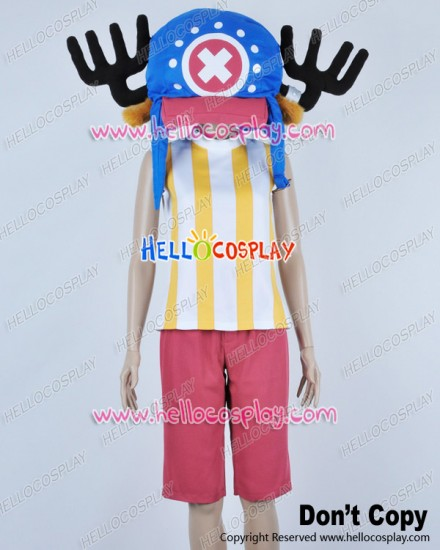 One Piece Cosplay Tony Tony Chopper Yellow Stripes Vest Costume