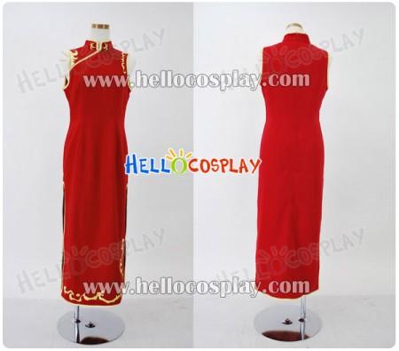 Gintama Cosplay Costume Kagura Cheongsam Dress