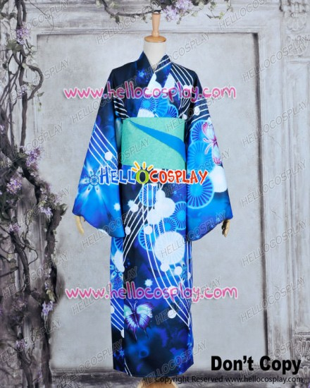 Vocaloid 2 Project DIVA F Cosplay Miku Dress Costume Kimono Bathrobe