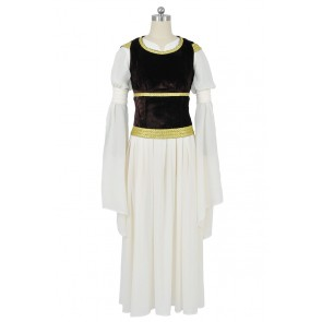 The Lord Of The Rings Cosplay Princess Eowyn Gown Dress Costume