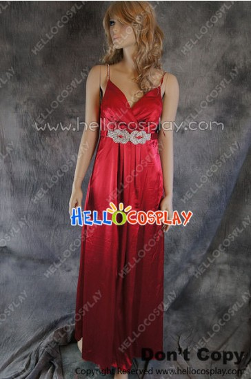 Party Cosplay Red Long Ball Gown Formal Dress Costume