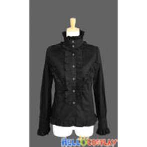Sweet Lolita Classical Gothic Punk Luxury Black Blouse