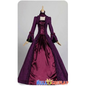 Victorian Lolita Reenactment Stage Brocade Gothic Lolita Dress