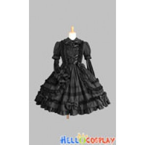 Gothic Lolita Punk Classic Black Francaise Dress