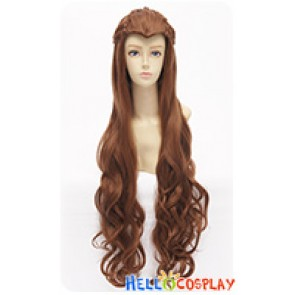 The Hobbit The Lord Of The Rings Silvan Elf Tauriel Wig Cosplay Pigtail Curly Long Brown