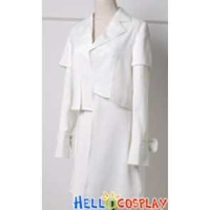 Twilight New Moon Costume Alice Cullen White Coat Suit