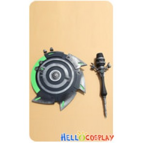 Dragon Nest Cosplay Cleric Rock Sets Cane Stick Shield Weapon Full Set