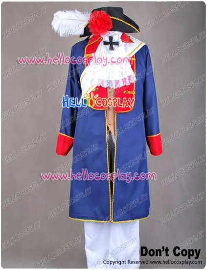 APH Axis Powers Hetalia Prussia Cosplay Costume