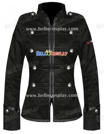 Black My Chemical Romance Ladies Military Parade Jacket