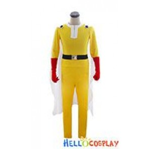One Punch Man Saitama Hage Manto Cosplay Costume Jumpsuit