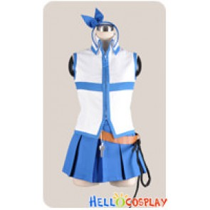 Fairy Tail Cosplay Lucy Heartfilia Blue White Uniform Costume