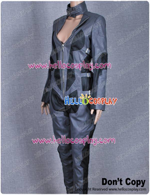 & Batman Arkham City Catwoman Cosplay Costume Leather Jumpsuit