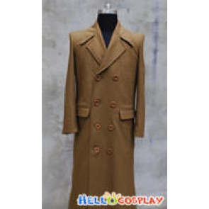 Doctor Brown Wool Coat