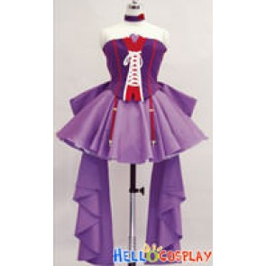 Macross Frontier Cosplay Sheryl Nome Purple Dress
