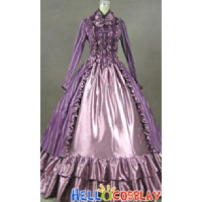 Renaissance Gothic Lolita Purple Dress Ball Gown Prom