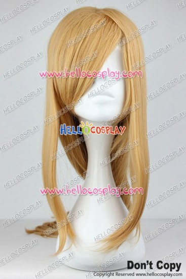 Sword Art Online Asuna Yuuki Cosplay Wig Brown Yellow