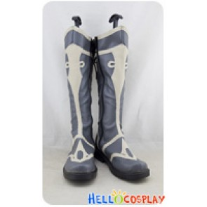 Final Fantasy XIV Online Cosplay Shoes Grey Long Boots