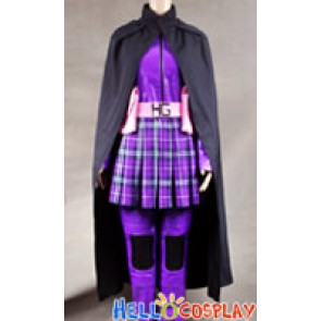 Kick-Ass Hit Girl Purple Leather Cosplay Costume