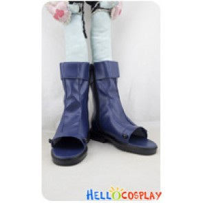 Naruto Cosplay Shoes Pleather Boots Blue