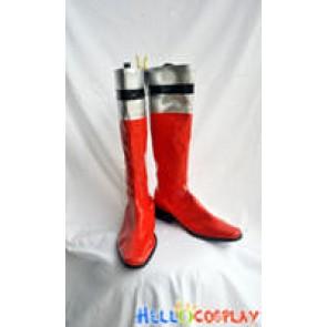 Tokusou Sentai Dekaranger Cosplay Red Boots