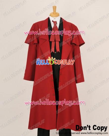 Hellsing Herushingu Cosplay Alucard Red Trench Coat Costume