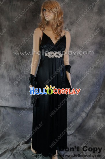Party Cosplay Black Long Ball Gown Formal Dress Costume