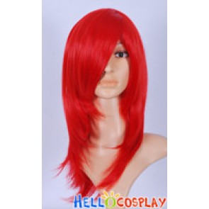 Bright Red Cosplay Wavy Wig
