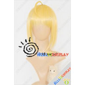 Fate Stay Night Cosplay Saber Yellow Wig