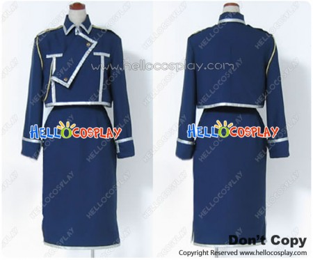Full Metal Alchemist Cosplay Riza Hawkeye Military Uniform