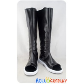 Naruto Cosplay Shoes Konan Black Long Boots