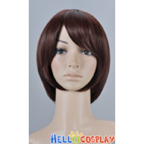Dark Brown Cosplay Short Layer Wig