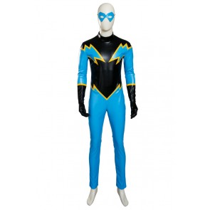 Young Justice Black Lightning Jefferson Pierce Cosplay Costume